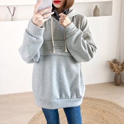 Winter Female Clothing Maternity Warm Sweater Comfortable Home Breastfeeding Sweatshirts Themselves Pregnant Women Clothes