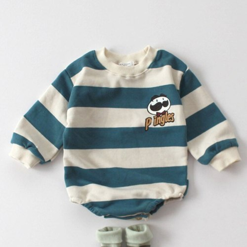 Spring Baby Clothes Toddler Girls Bodysuit Striped Boys  Jumpsuit Baby One Piece
