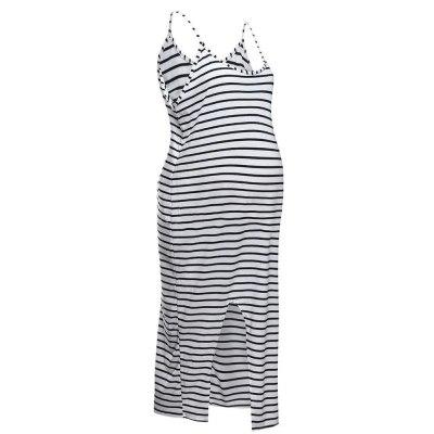 Summer pregnant women fashion cool comfortable sleeveless striped dress