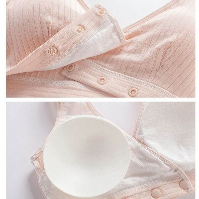 Cotton Pregnant Women Breastfeeding Bra Breathable Nursing Bras for Maternity Wire Free Pregnancy Feeding Underwear Clothes