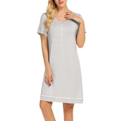 Maternity Nursing Pajamas Breastfeeding Dress Comfortable Shelf Multi-functional Maternity Dress