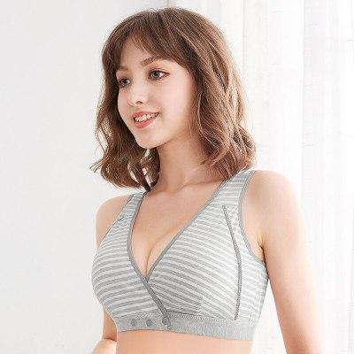 Cotton Pregnant Women Breastfeeding Bra Breathable Nursing Bras for Maternity Wire Free Pregnancy Feeding Underwear Clothes