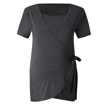 Women's multi-functional mother post-pregnancy breastfeeding stitching top comfortable maternity Tops