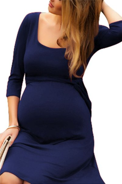 Maternity Tops Women's Pregnancy  Maternity Solid Color Shirt