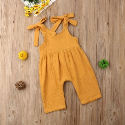 Vintage Newborn Infant Baby Girl Boy Clothing Ruffles Baby Girl Rompers Jumpsuit Overalls Summer Sleeveless Baby Girl Costumes
