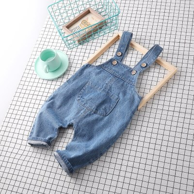 2021 spring baby boy denim overall boys jeans pant 1pc baby girl romper baby boy overall children pant