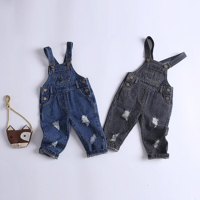 Baby Overalls boys girls denim pants infant pants trousers spring autumn kids jeans for 0-4 years children's denim overalls