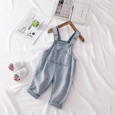 Baby Denim Pants Boys Girls Casual Straight Pants Baby Girl Clothes Infant Jeans Trousers Overalls Cute Jumpsuits