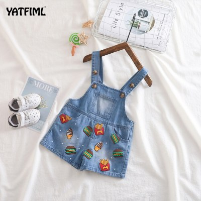 Baby Pants Boys Girls play Jumpsuit Jeans Denim  Overoles Kids Summer  Cute Overalls Pants For Kids Baby Trousers