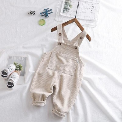 New Baby Overalls boys girls Corduroy pants infant trousers  kids spring pants for 0-3 year children's overalls solid color