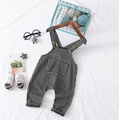 Fashion Kids Plaid Pants Spring/summer Cute Infant Baby Boys Clothes Big Pocket Baby Overalls Loose Casual Baby Suspender