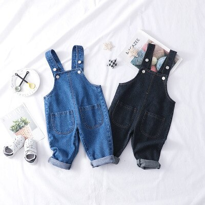 Children's Denim Overalls Spring New Baby Boys and Girls Fashion Suspender Jeans  Kids Cowboy Overalls Girl Jeans