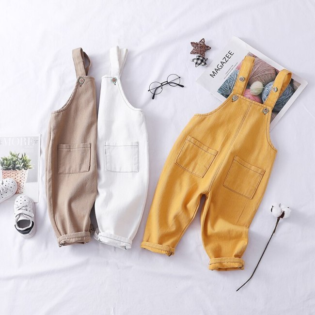 Spring boys girls fashion cotton overall 80-100cm height boys pant 1pc baby girl romper baby boy overall children pant