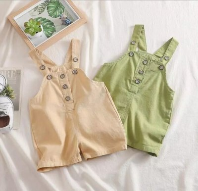 2021 New  Baby Girls Overalls Spring Fashion Cotton Babys Pants