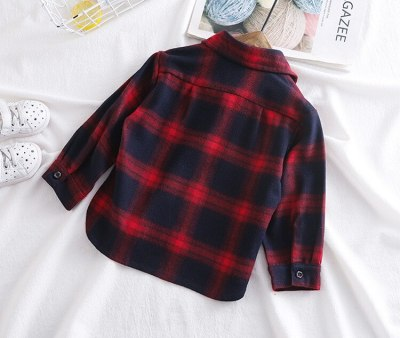 Baby Boys Plaid Clothing Cotton Infant Boys Long Sleeve Tops T-Shirts Outfits Autumn Kids Boys Clothes