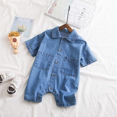 Baby Romper Summer Denim Jumpsuit Newborn Baby Clothes Unisex Baby Clothes Kids Costume For Baby Boys Clothes