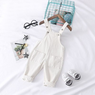 Little Girls Denim Overalls Spring Denim Dungarees Girls Suspender Pants Kids Jumpsuit Children Children'S White Corduroy Jeans