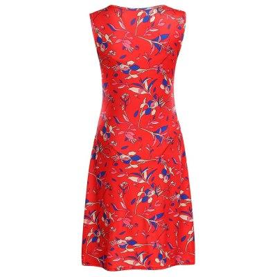 Women's Maternity Pregnanty Sleeveless Nursing Summer V-Neck Floral Print Dress