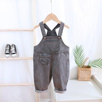 Korean Children's Wear Boys Overall Girls' Spring Denim Pants Children's Loose Pants girls leggings