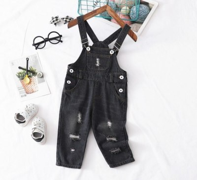spring baby boys hole denim pant 1pc fashion style infant denim overall baby jeans