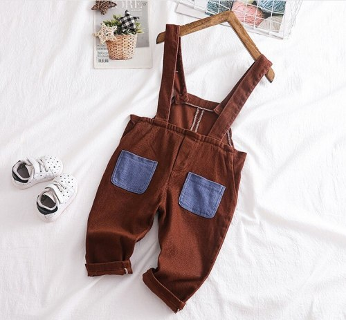 2020 autumn patchwork pocketbaby boys overall baby girl bodyjump infant overall baby girl overall kids jeans
