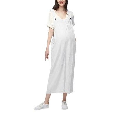 Maternity Women Bib Pants Trousers Pregnant Comfort Prop Belly Rompers women Dress