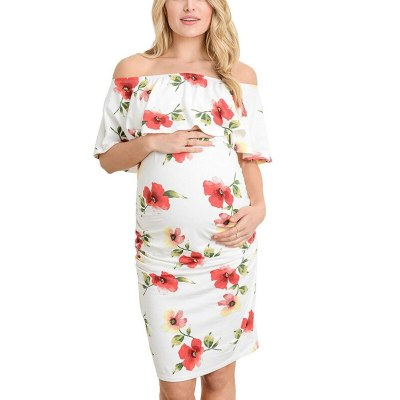 Women Maternity Clothing Pregnant Sexy Comfortable Daily Maternity Dress