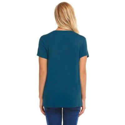 Women Maternity Pregnant Double Layer Nursing Breastfeeding T-shirt Tops Breastfeeding Tops Loose Maternity Clothing