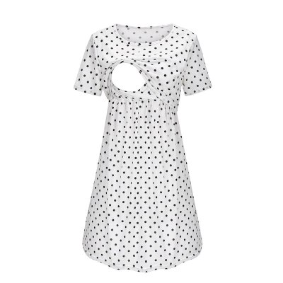 2021 Casual Maternity Dresses Women Polka Dot Pregnancy Dress Dresses Sexy Casual Breastfeeding