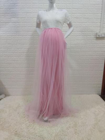 New Lace Maternity Photography Long Dress Cute Pregnancy Women Maxi Gown For Baby Shower Photo Shoot