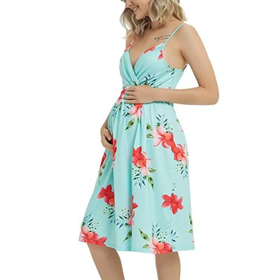 New Style Pregnant Women Floral Long Maternity Gown Photography Photo Shoot Dress