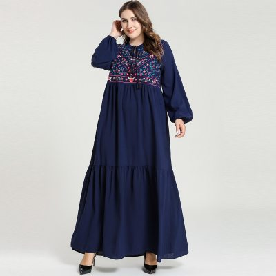 Embroidery Dress Women Turkey Clothing Moroccan  Long Caftan Turkish Dresses