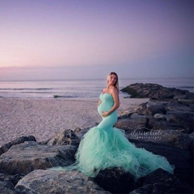 Maternity Gown Lace Maxi Dress Pregnant Women Maternity Dresses For Photo Shoot