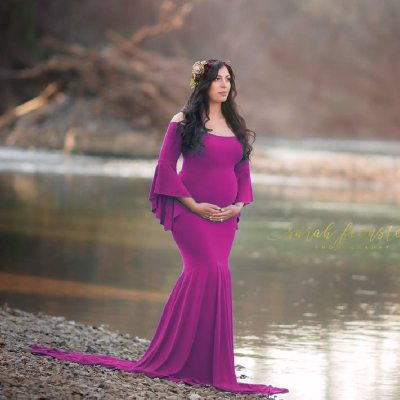 New Style Maternity photography props maxi Photo Shooting pregnant dress