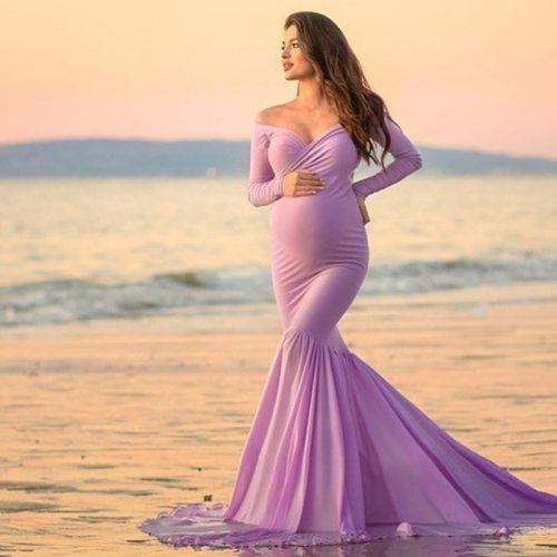 Fishtail Evening Dress Photography Maternity Dresses