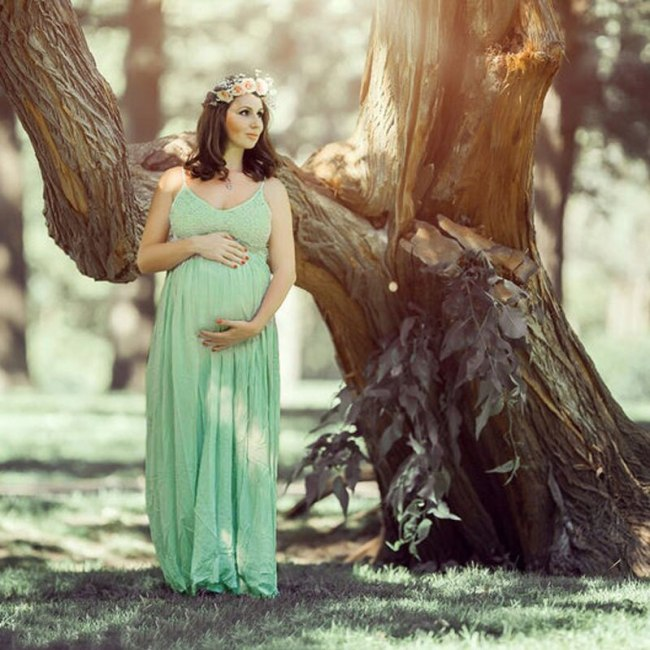 Sexy Maternity Pregnancy Dress Photography Lace Linen Long Sling Dresses For Pregnant Women Backless Maxi Gown Photo Shoots Prop