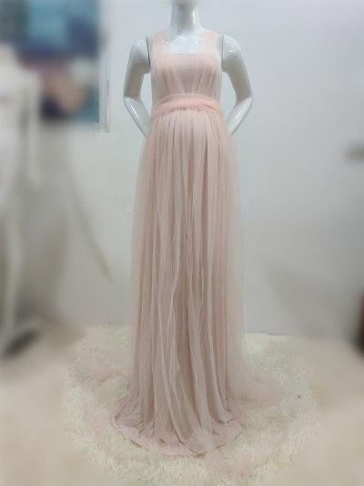 Tulle Photography Props Long Mesh Pregnant Women Photo Shoots Dress