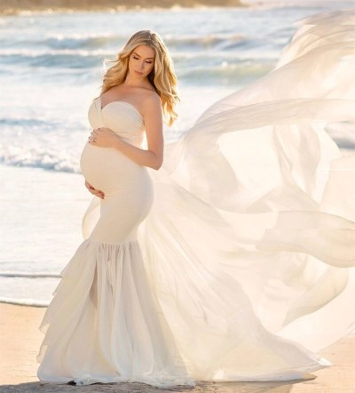 Pregnancy Dress PregnMaternity Gown Dress Sexy Off Shoulder Stretchy Maxi Dress Photography
