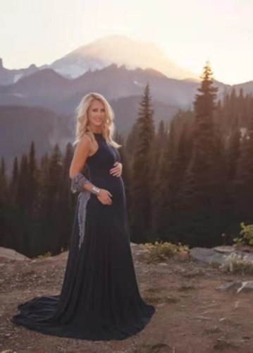 Summer Elegant Maternity Dresses for Photo Shoot Pregnant Women Dress Photography Baby Shower Dress