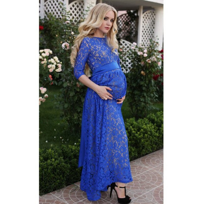 Long Lace Maternity Photography Props Evening Pregnant Dress Pregnancy Dress Photography Clothing For Pregnant Women Clothes