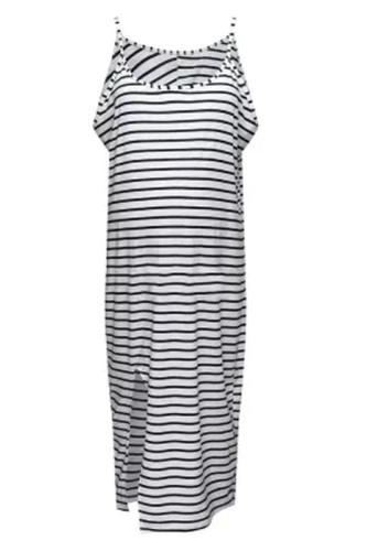 Summer pregnant women fashion cool comfortable sleeveless striped dress