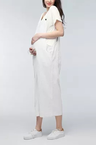 Maternity Women Bib Pants Trousers Pregnant Comfort Prop Belly Rompers women Dress