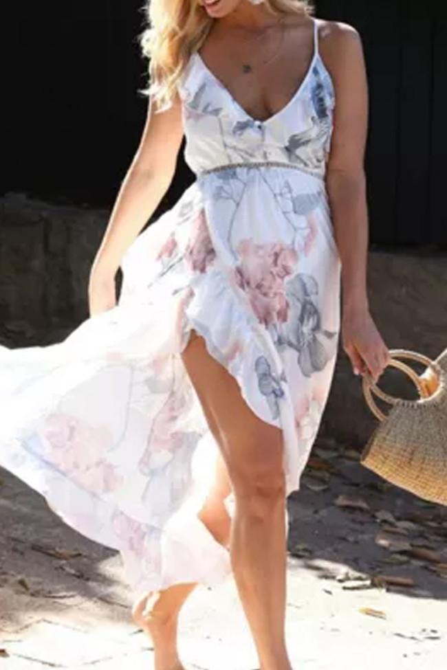 Women Maternity Dresses Maternity Clothes Pregnancy  Floral Backless Dress Beach Dress