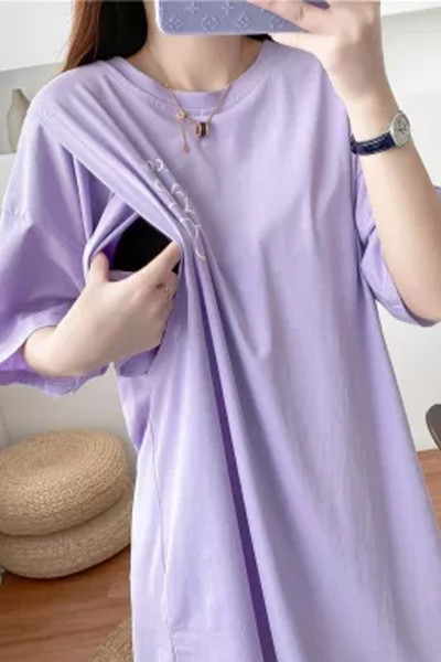 Summer Clothes For  Postnatal Nursing Mothers Direct Selling Maternity Dresses