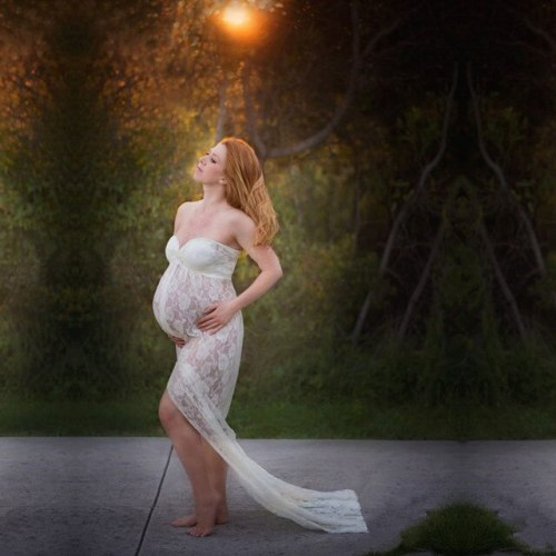 Maternity Photography Props Pregnant Women Long Elegant Dress Romantic Photo Shoot