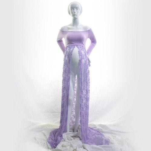 Maternity Photography Maxi Lace Dress Slash Neck See Through Maternity Dress Maternity Photo Shoot Long Dress