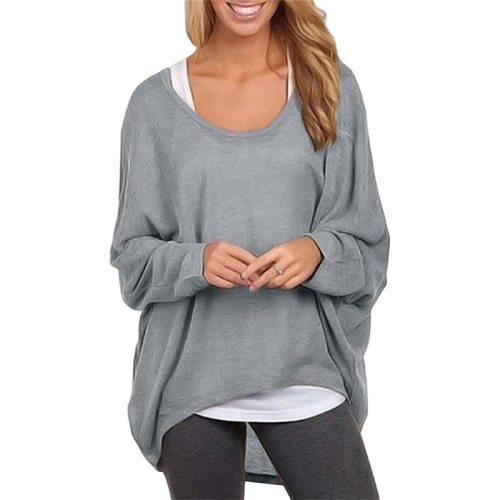 2021 New Fashion Patchwork Europe Long Sleeve Loose T-shirt women's Clothing