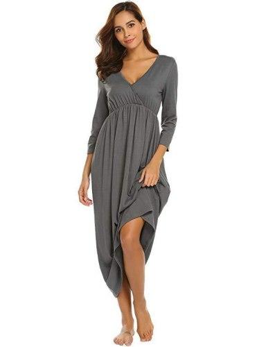 Breastfeeding Nightgown  Dress nursing nightgown for hospital maternidad maternity sleepwear