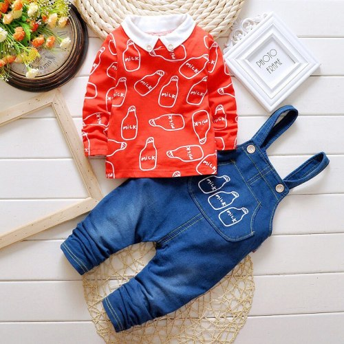 Fashion kids Boys Girl Cartoon Clothing Suits Baby Cotton Hoodies Pants 2Pcs/Sets Spring Autumn Clothes Toddler Tracksuits