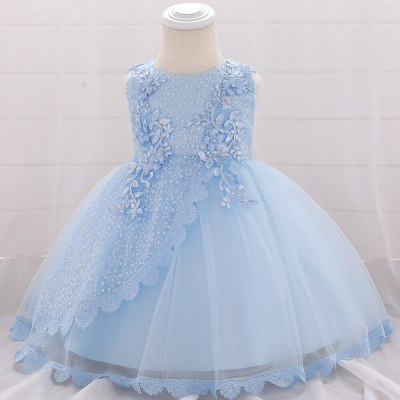 Newborn Flower Girls Wedding Dress Baby Girls Christening Lace Dresses for Party Occasion Prom Kid Clothes 1 Year Birthday Dress